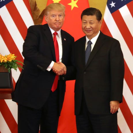 President Donald Trump and President Xi Jinping in Beijing on Nov. 9, 2017.