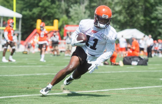 d1838135d Usp Nfl Cleveland Browns Training Camp S Fbn Usa Oh. Antonio Callaway ...