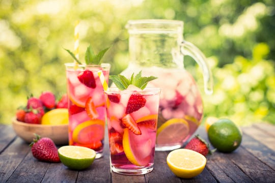 Add fresh fruit to your favorite summer beverage.