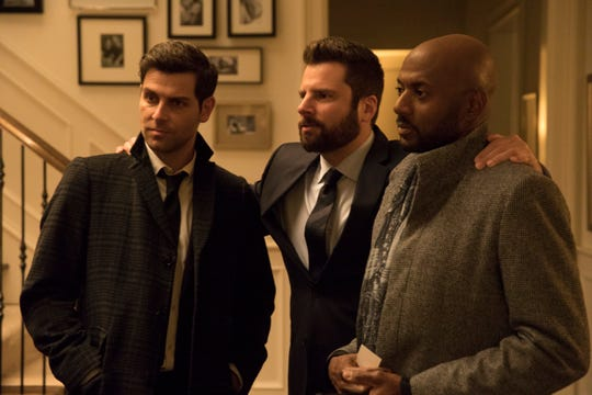 "David Giuntoli, James Roday and Romany Malco in ABC's fall drama ""A Million Little Things."""