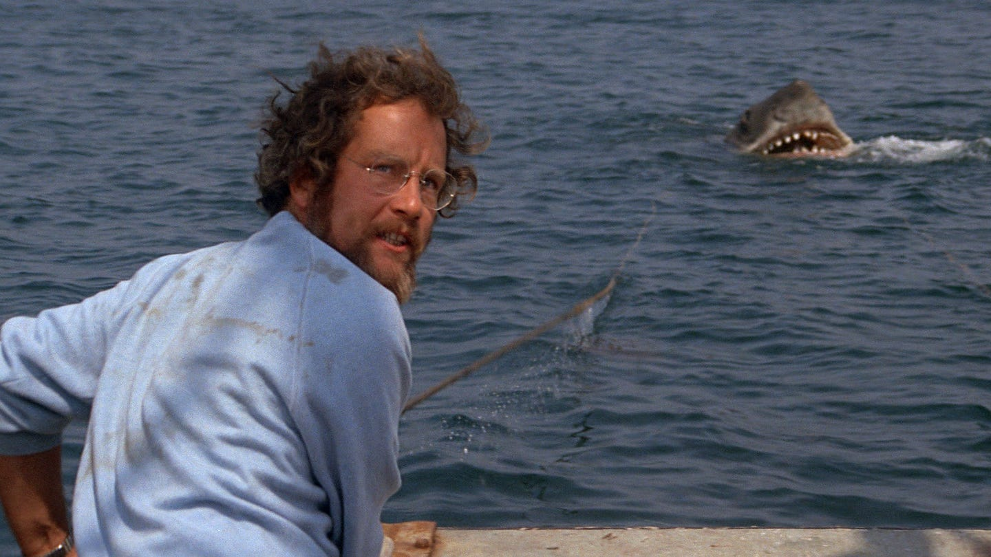 """Richard Dreyfuss is an oceanographer dealing with a toothy menace in the original """"Jaws."""""""