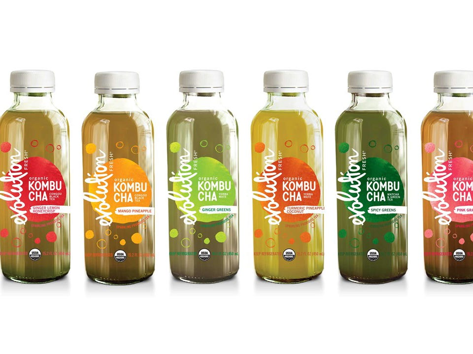 Evolution Fresh Organic Kombucha Full Line