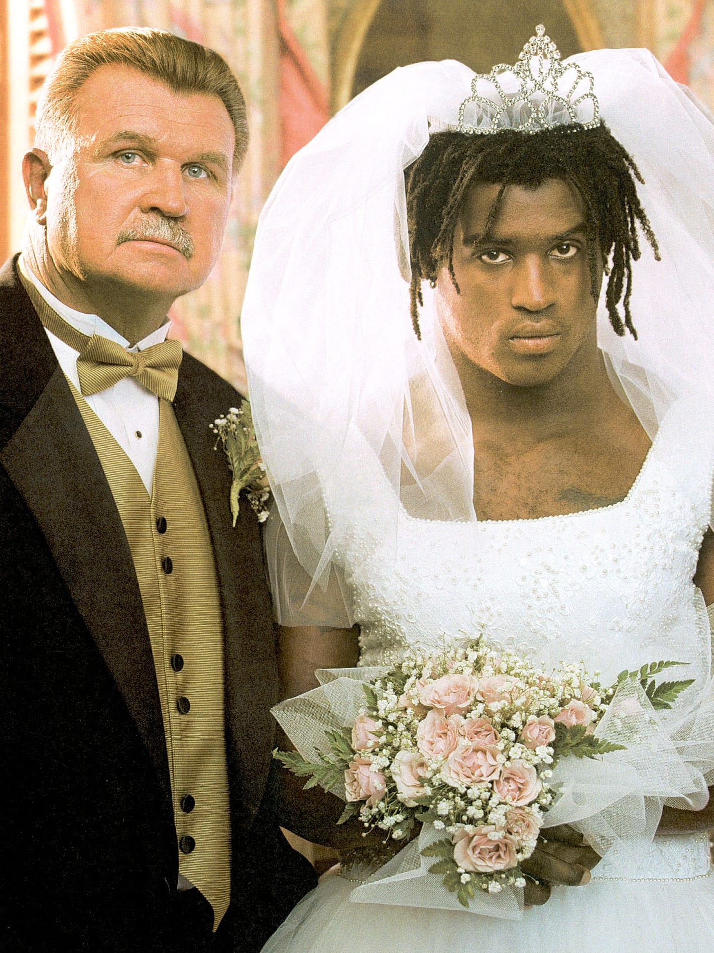 New Orleans Saints coach Mike Ditka and running back Ricky WIlliams appeared on the cover of 'ESPN The Magazine' in 1999 after Williams had been drafted by the team.