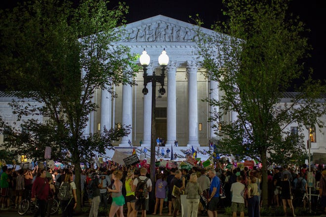Outside the Supreme Court on July 9, 2018.