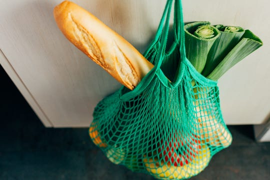 Mesh bags are ideal for storing certain fruits.