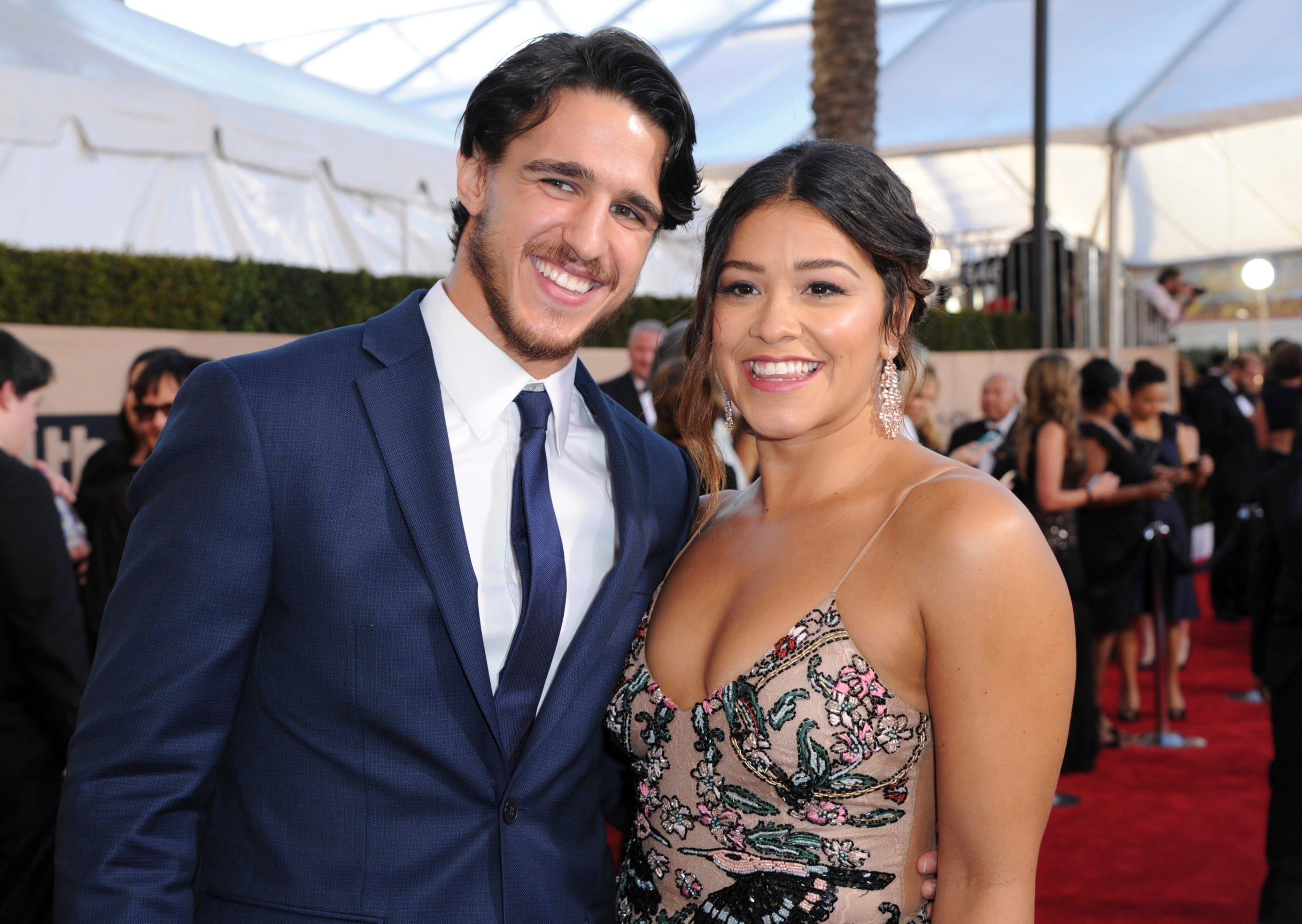 Gina Rodriguez shows off massive ring after confirming engagement to Joe LoCicero