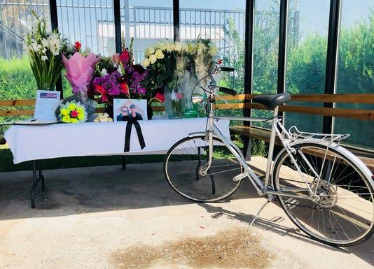 U.S. Embassy memorial for Jay Austin and Lauren Geoghegan