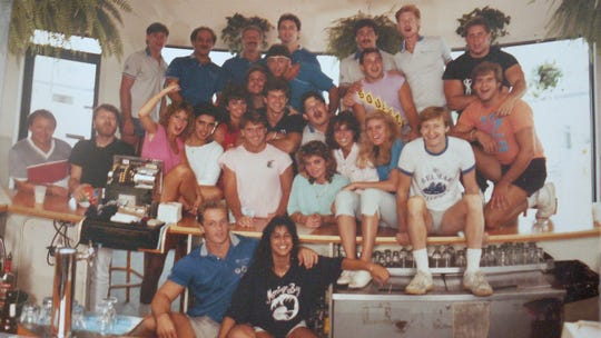 The crew at Montego Bay in Belmar in the '80s.