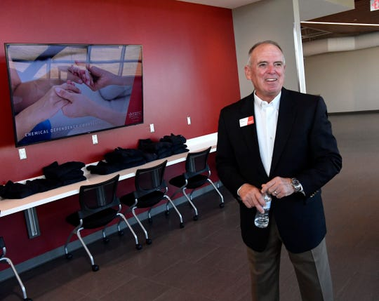 Rick Denbow, the provost for TSTC West Texas at the new Abilene campus Aug. 8.