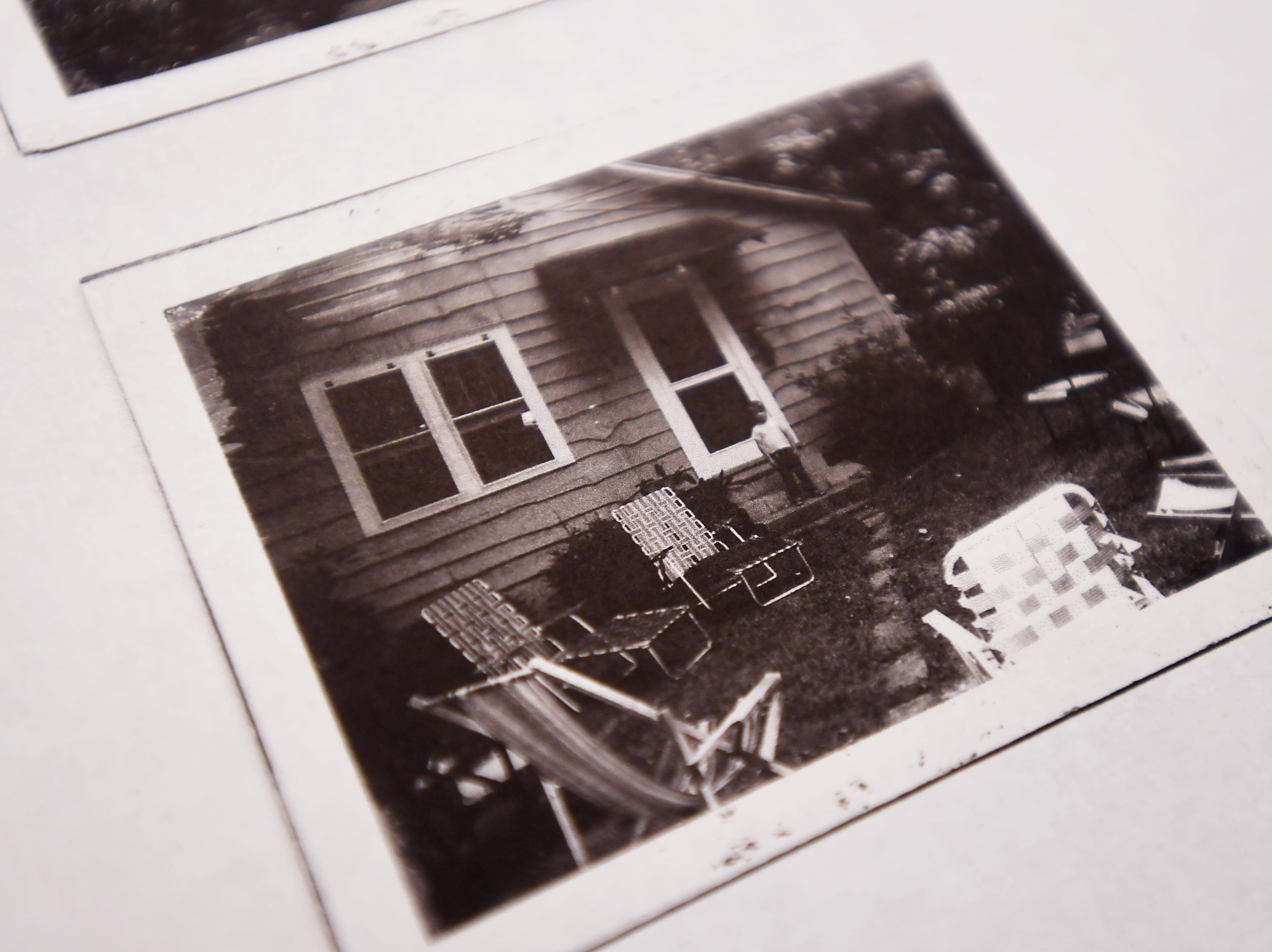 An old photograph of Rhonda Corley's cabin.