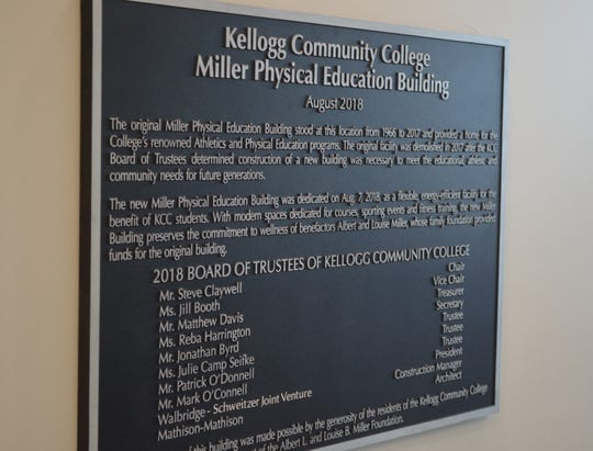 An open house and ribbon-cutting event to celebrate Kellogg Community College's new Miller Physical Education Building was held Tuesday.