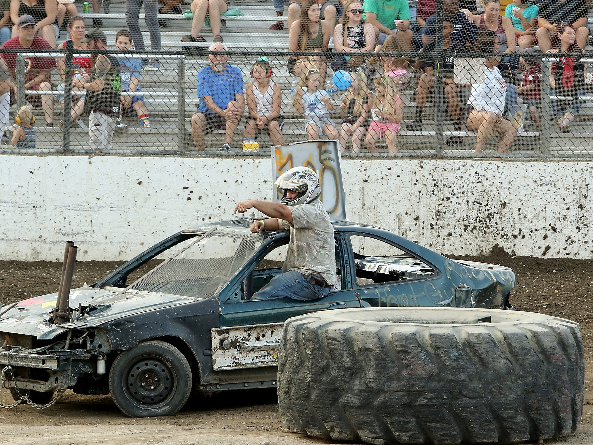 Kitsap Destruction Derby at Thunderbird Arena at the Kitsap County Fairgrounds on Saturday, July 28, 2018.