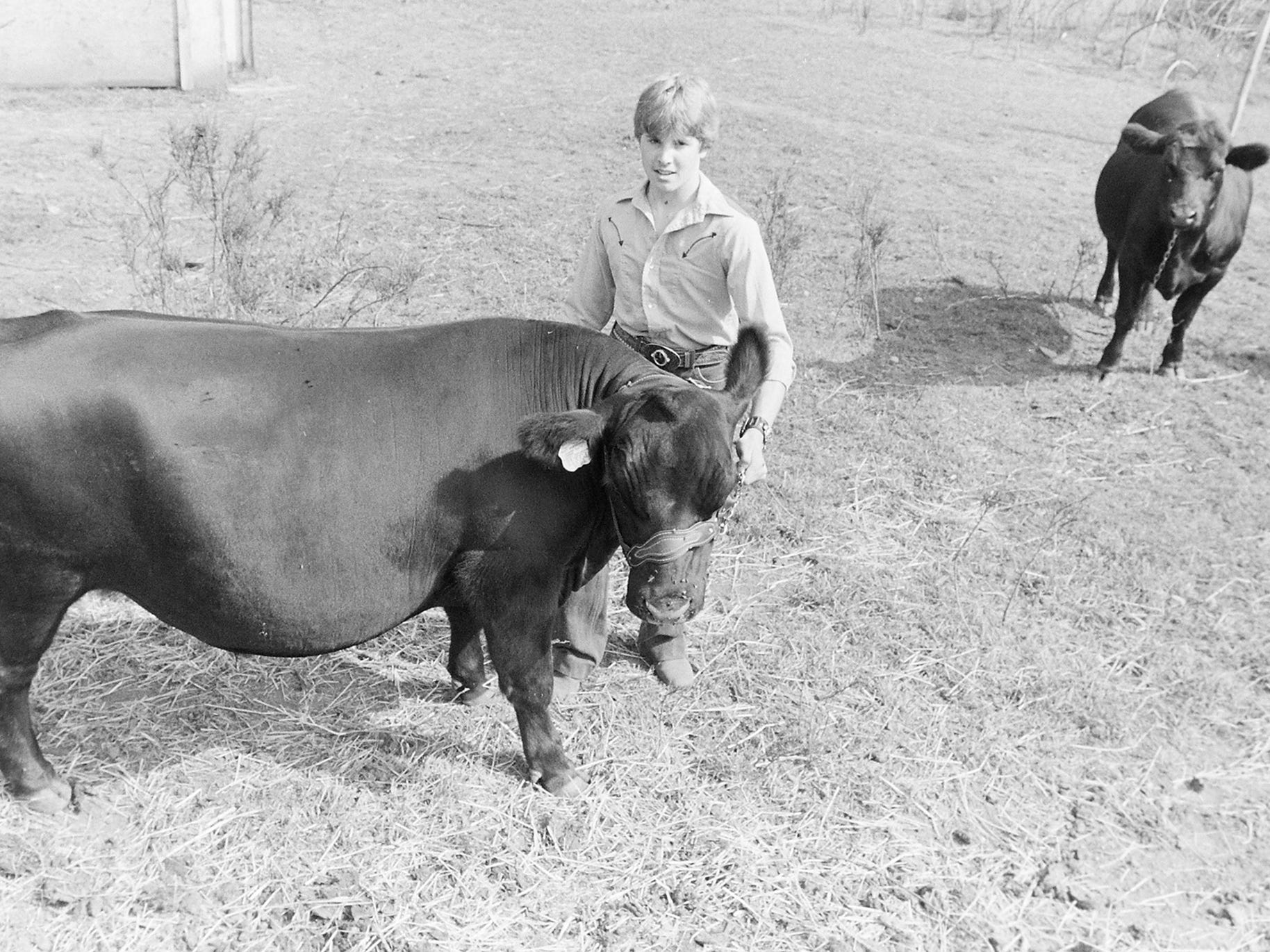 08/20/82Kid and His Cow