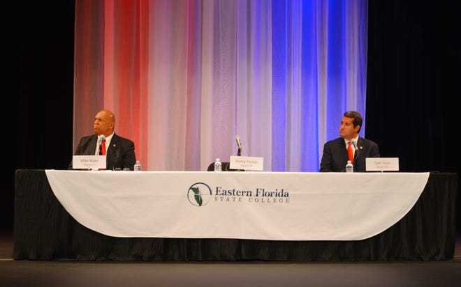 FLORIDA TODAY held a forum for House District 51 Wednesday night at Eastern Florida State College Cocoa Campus with candidates Mike Blake and Tyler Sirois, Henry Parrish did not attend.