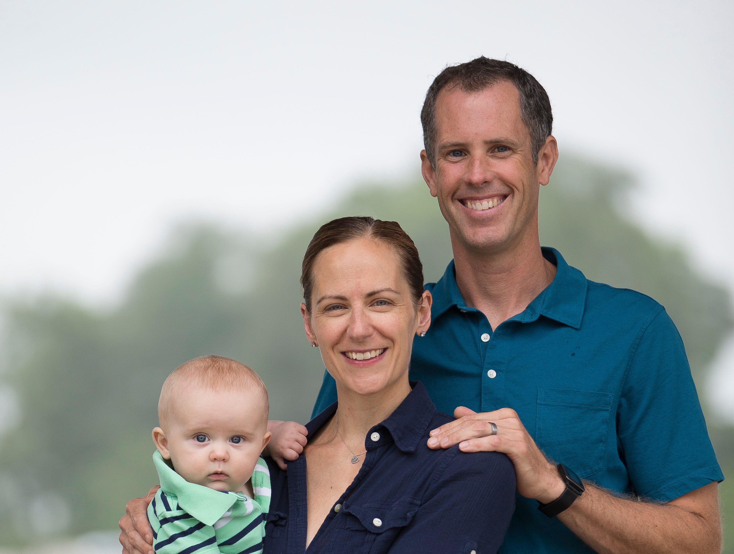 Liz Scott with her husband Henry Scott and her 5-month-old son Alexander. The family lives in South Bend, Indiana.