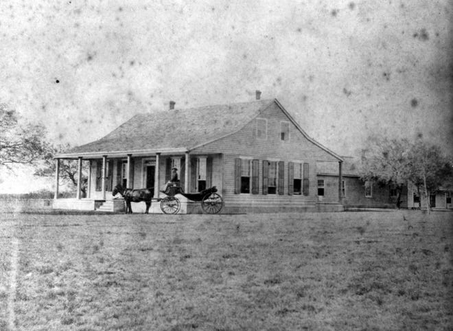 Contributed photoRichard King's original ranch house was built between the Santa Gertrudis and San Fernando creeks in 1857. A raid on this house by Union cavalry brought the reality of war home to Henrietta King. The house, enlarged over the years, burned in 1911.