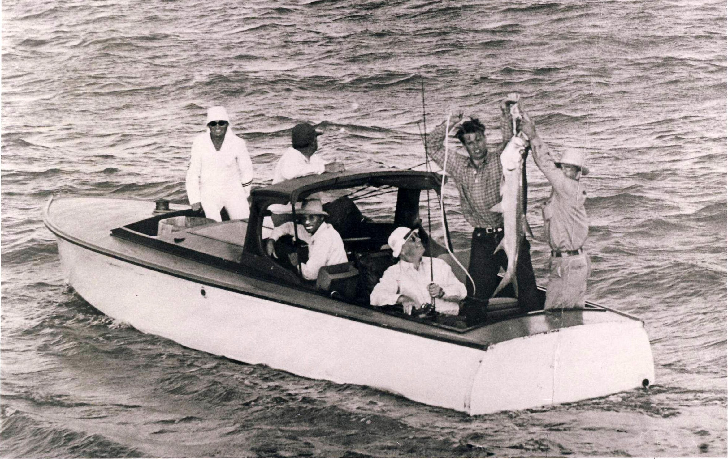 Cal            President Franklin D. Roosevelt fished with Port Aransas guide Barney Farley in 1937.