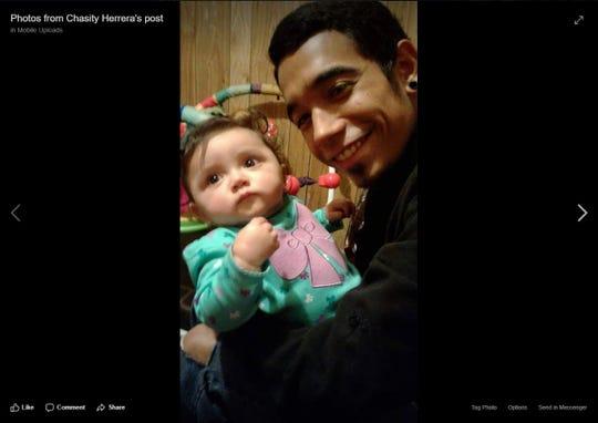 A screenshot shows a photo of Daniel Ortiz, 21, and Arabella Sanchez in 2016.