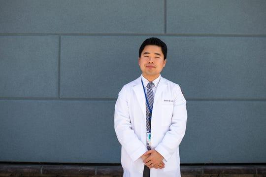 Dr. Sean G. Lee, a fourth-year psychiatry resident at Rowan University School of Osteopathic Medicine, poses for a portrait outside the Cumberland County VA Community Based Outpatient Clinic in Vineland Wednesday. Lee is part of a new residency program developed for Rowan SOM students at VA clinics in South Jersey.
