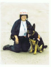 Anna the German shepherd, along with her handler Sarah Atlas, were deployed to the World Trade Center site with New Jersey Task Force One.