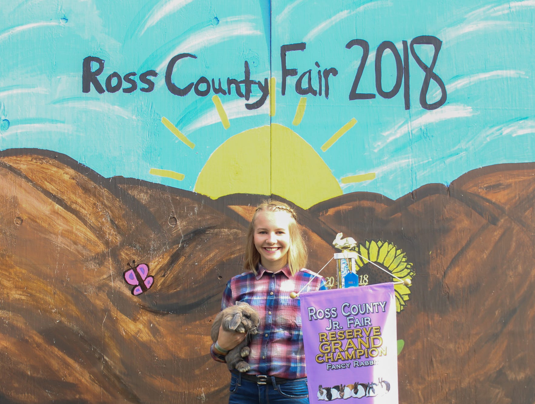 2018 Jr. Fair Guinea Pig and Rabbit  judging. Ashton Hatfield, Amazing Country Kids, 18.