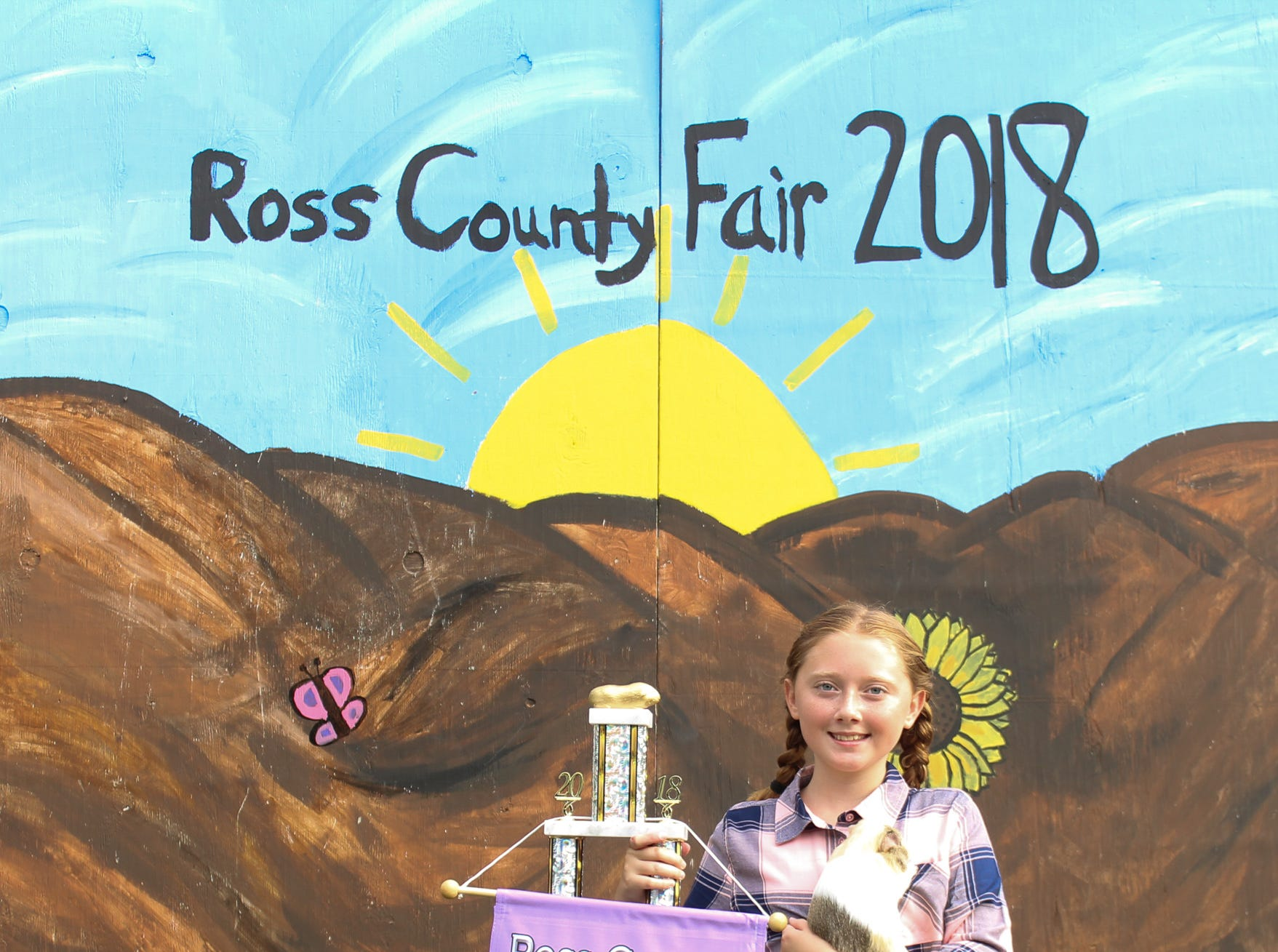 2018 Jr. Fair Guinea Pig and Rabbit  judging. Meghan Hurless, Old Time Gang, 10.
