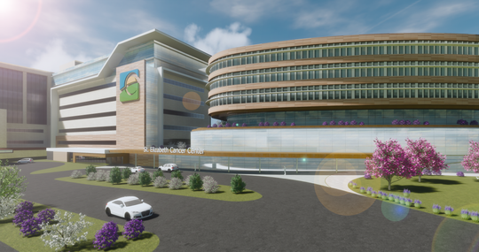 A rendering of St. Elizabeth's new cancer center.