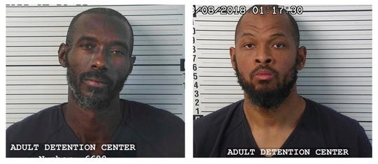 CORRECTS LAST NAME TO MORTON, NOT MORTEN - This photo provided by the Taos County Sheriff's Department shows Lucas Morton, left, and Siraj Wahhaj. Morton and Wahhaj were arrested after law enforcement officers searching a rural northern New Mexico compound for a missing 3-year-old boy found 11 children in filthy conditions and hardly any food.