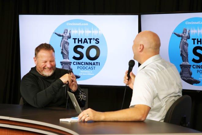 Political columnist  Jason Williams, left, also co-host's The Enquirer's That's So Cincinnati podcast.