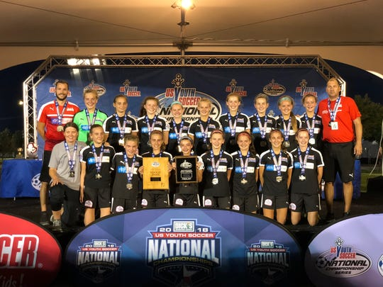 13U Kings Hammer 05 Red made it to the national title game at the Youth Soccer Championships in Frisco, Texas.