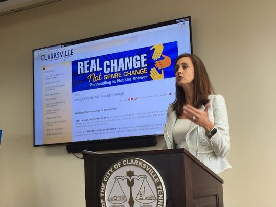 Chief Executive Officer Ginna Holleman of the United Way of the Greater Clarksville Region talks about how donations can be made to agencies that help people instead of directly to panhandlers.
