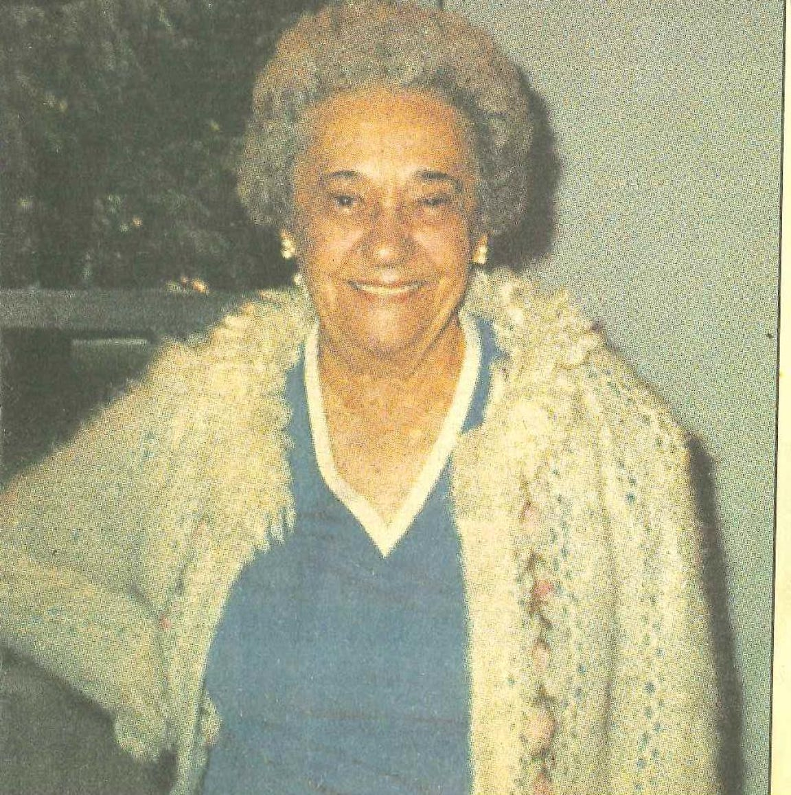 A photo of a younger Ruth Jacobson