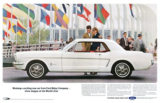 22,000 Mustang orders are placed the first day, with 419,000 cars sold the first year.