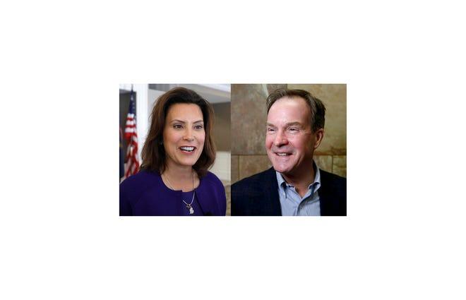 Michigan governor candidates in November 2018: Gretchen Whitmer, Democratic and Bill Schuette, Republican