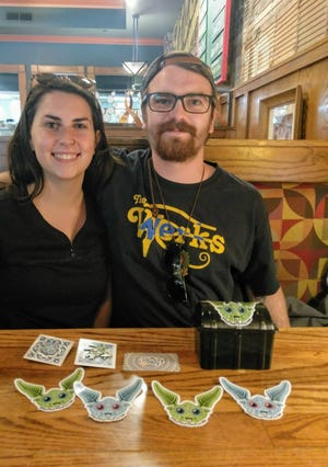 Gordie Morton, with girlfriend and business partner Hannah Ghneim, are hoping their Ferndalien treasure hunt in Ferndale will help get people off their screens and interacting in their community.