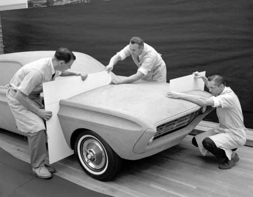 Q1 Special Falcon 1962 Ford Styling Center Clay Modeling