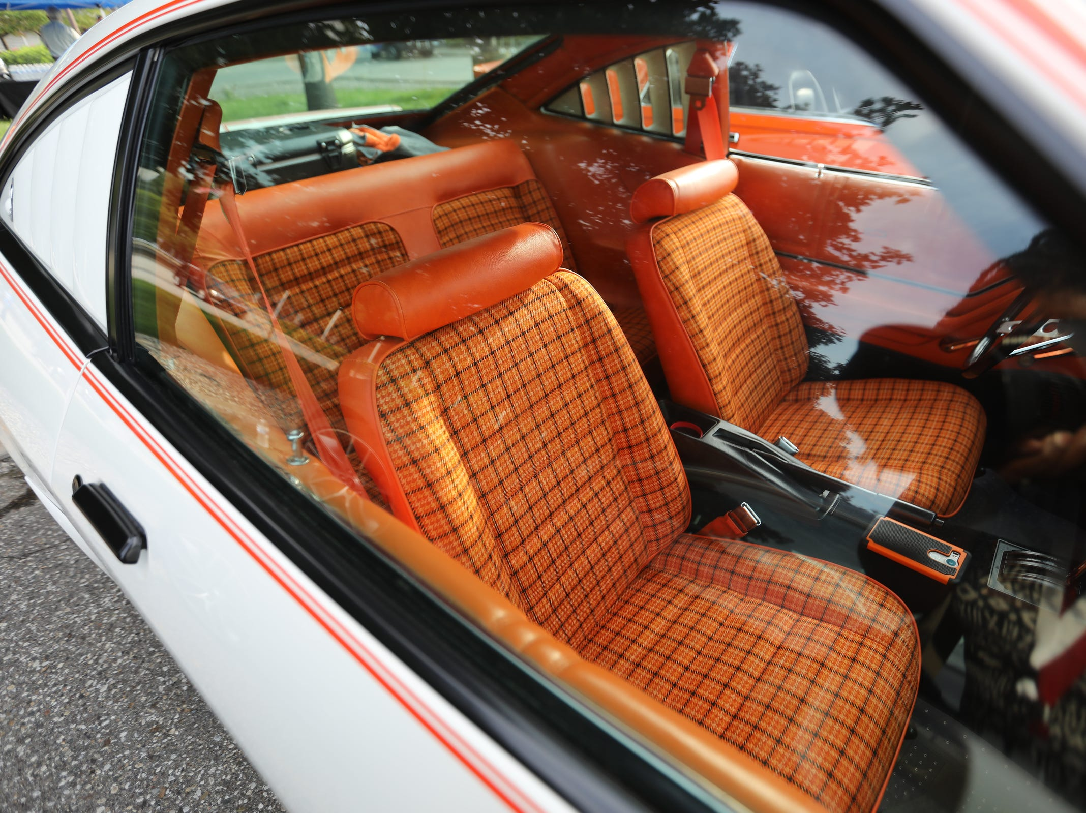 The original interior of a 1978 Ford Mustang Cobra seen during a Ford event celebrating the 10,000,000 Mustang built at the Ford Motor Company World Headquarters in Dearborn on Wed., Aug 8, 2018.