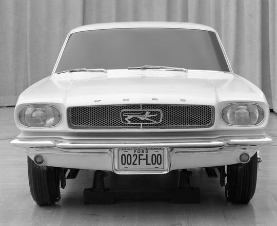 After considering Cougar, Stiletto and Allegro, the name Mustang  inspired by a World War II fighter plane sticks, but the team goes on to push the pony branding as the car is launched.