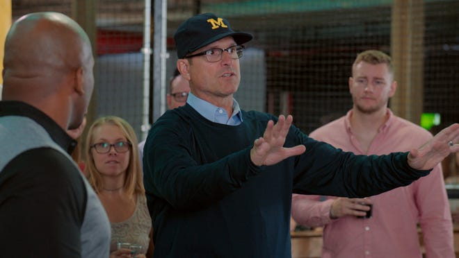 """University of Michigan head football coach Jim Harbaugh has a cameo in Comedy Central's """"Detroiters."""""""