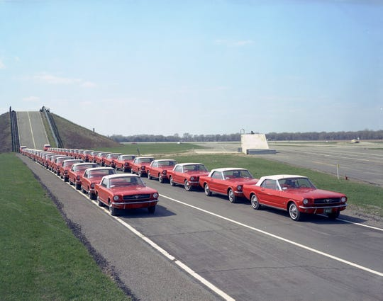 With an average length of 15.6 feet, 10 million Mustangs parked end-to-end equates to 29,545 miles enough to circle the world with 1,200 miles to spare.