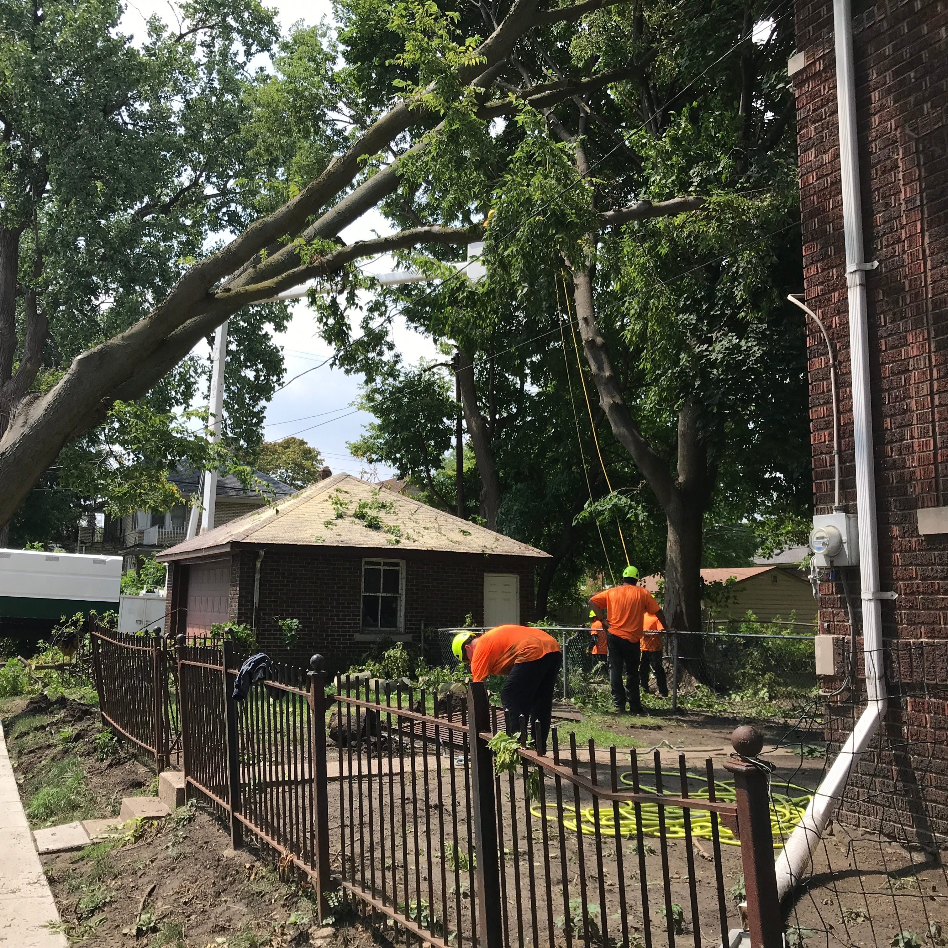 14,000 remain without power in southeast Michigan after Monday storms