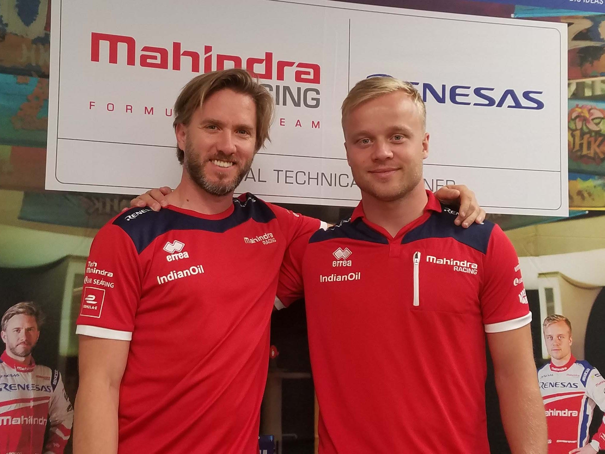 Formula E attracts top drivers like ex-Formula One ace Nick Heidfeld of Germany, left, and Felix Rosenqvist of Sweden, an ex-Formula 3 champ. They race for India's Mahindra team.