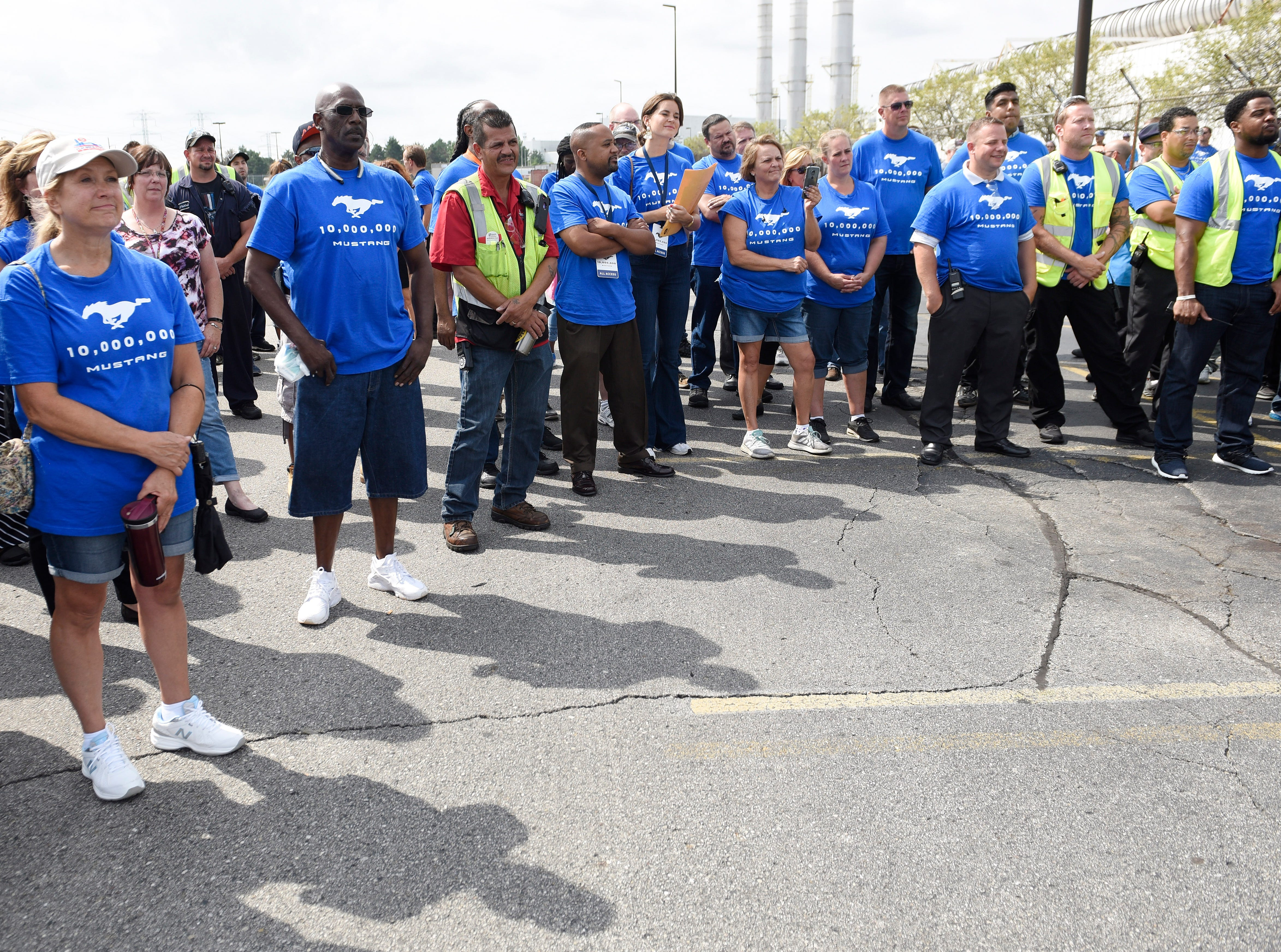 Plant employees came out for the event.
