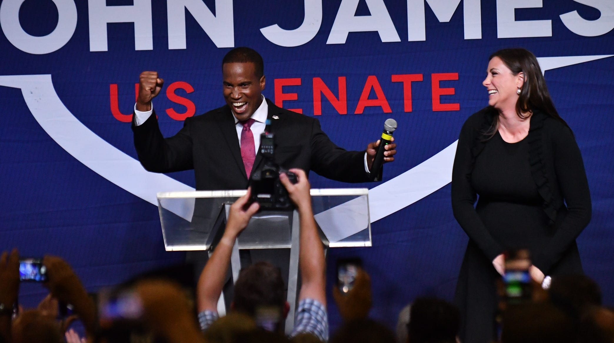 James wins Republican U.S. Senate primary to take on U.S. Sen. Stabenow