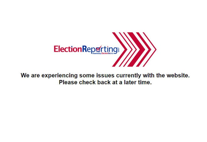 A website glitch prevented Wayne County primary election results to be known.