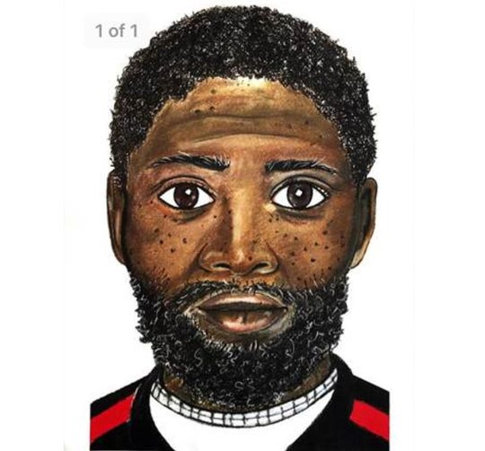 A police sketch of a male suspect who was observed fleeing the scene of an assault May 15 behind the former Cooley High School.