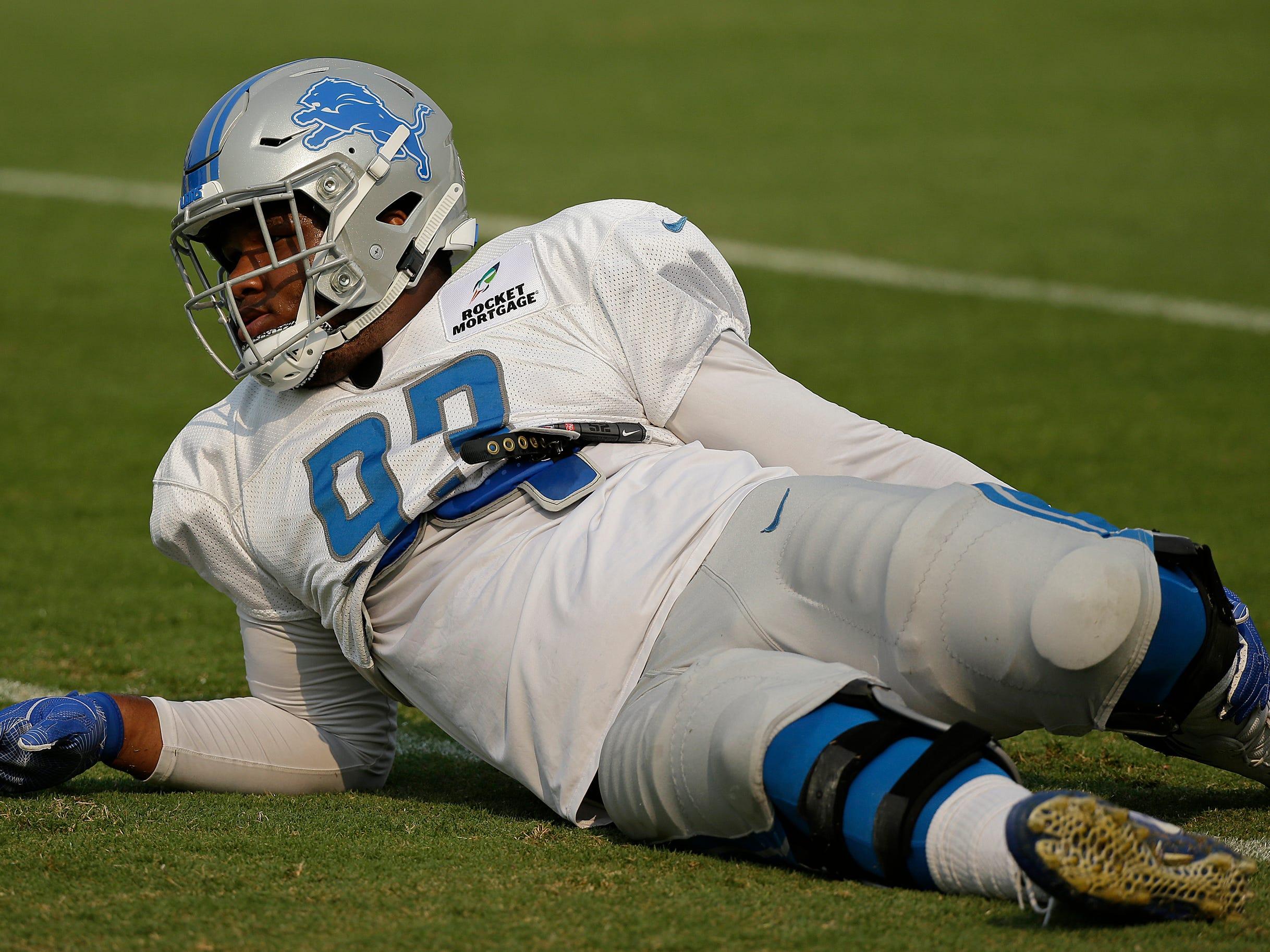 Detroit Lions defensive end Da'Shawn Hand.