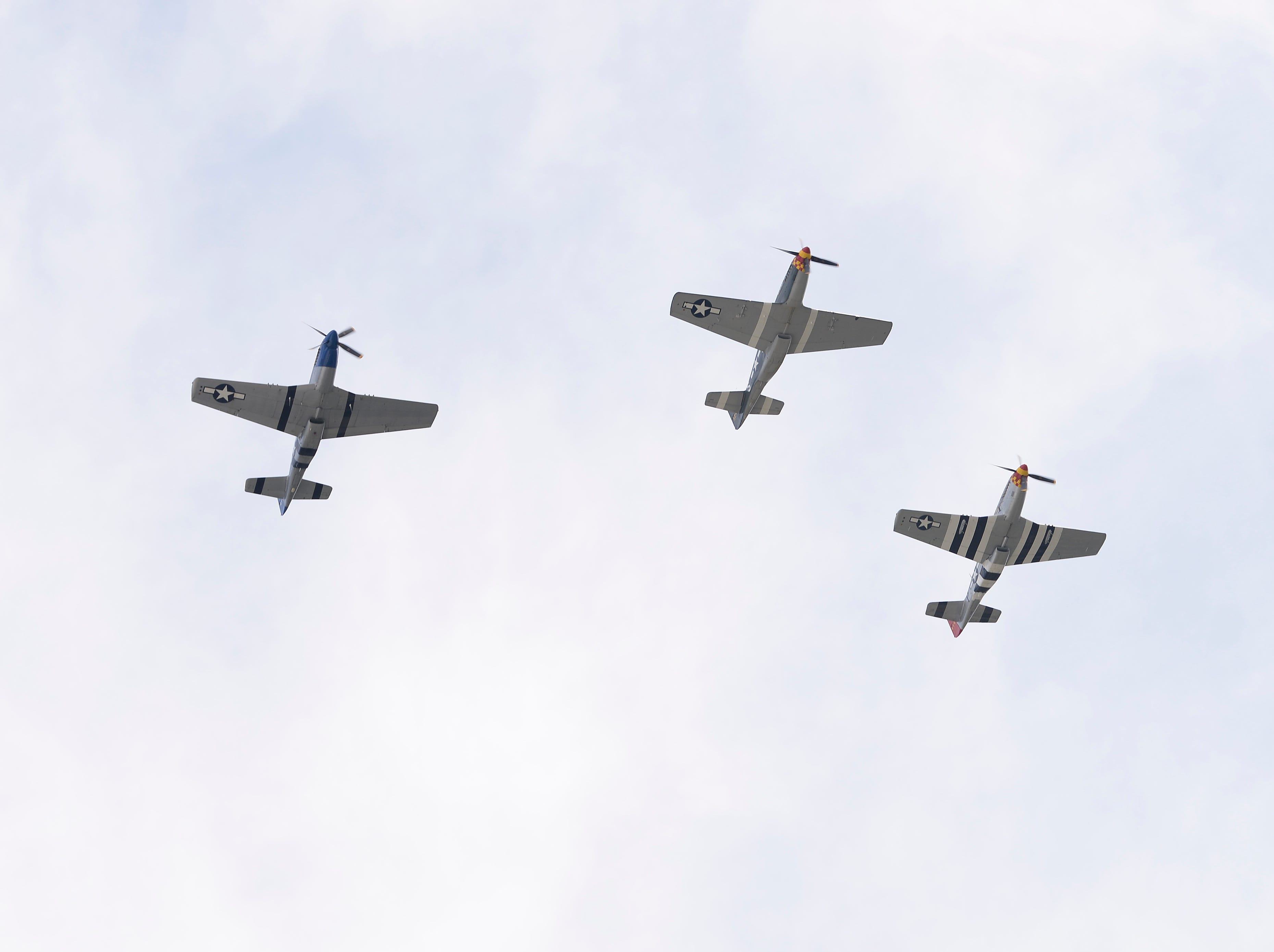 P-51 Mustang does a fly over during the event