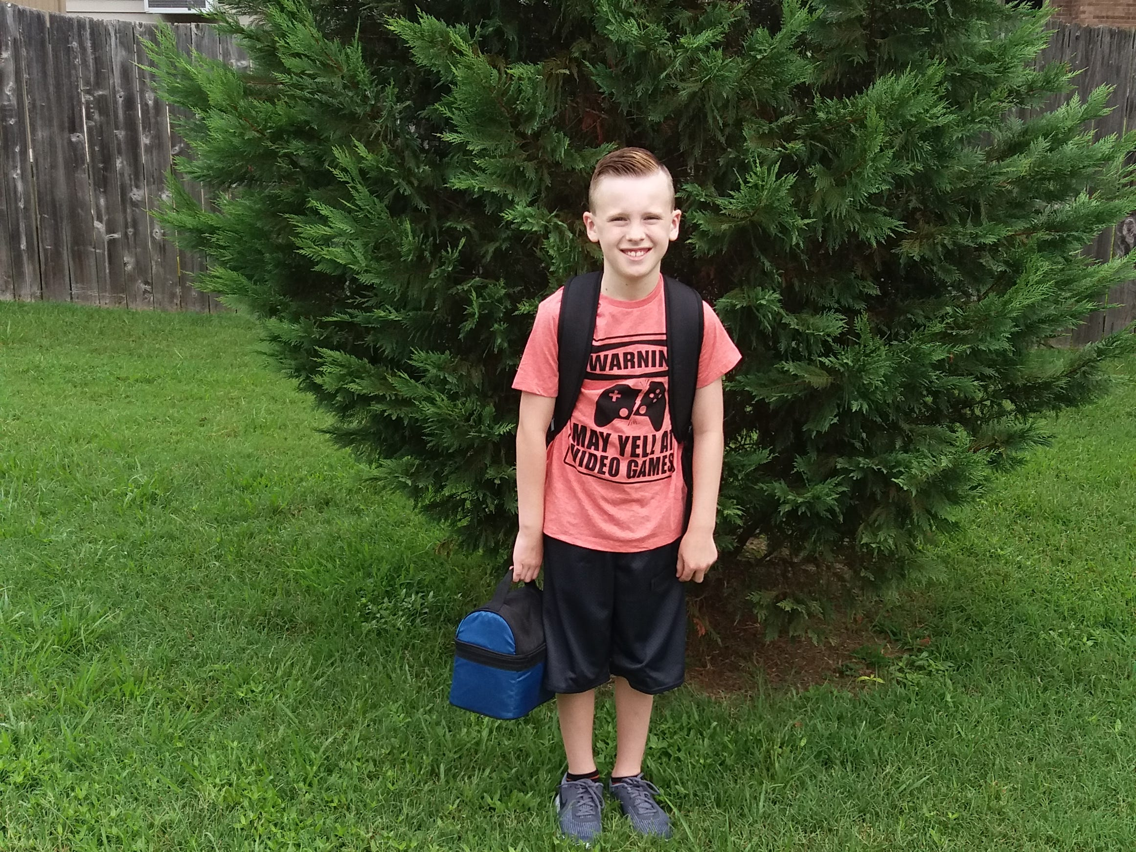 Madden Davis,  1st day of 4th grade at West Terrace