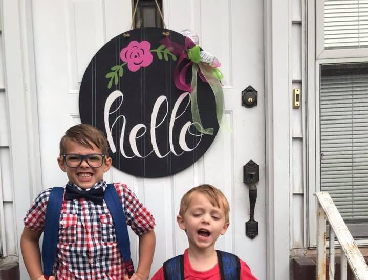 Miles Doyle had his first day of second grade and Owen Doyle was ready for his first day of preschool.